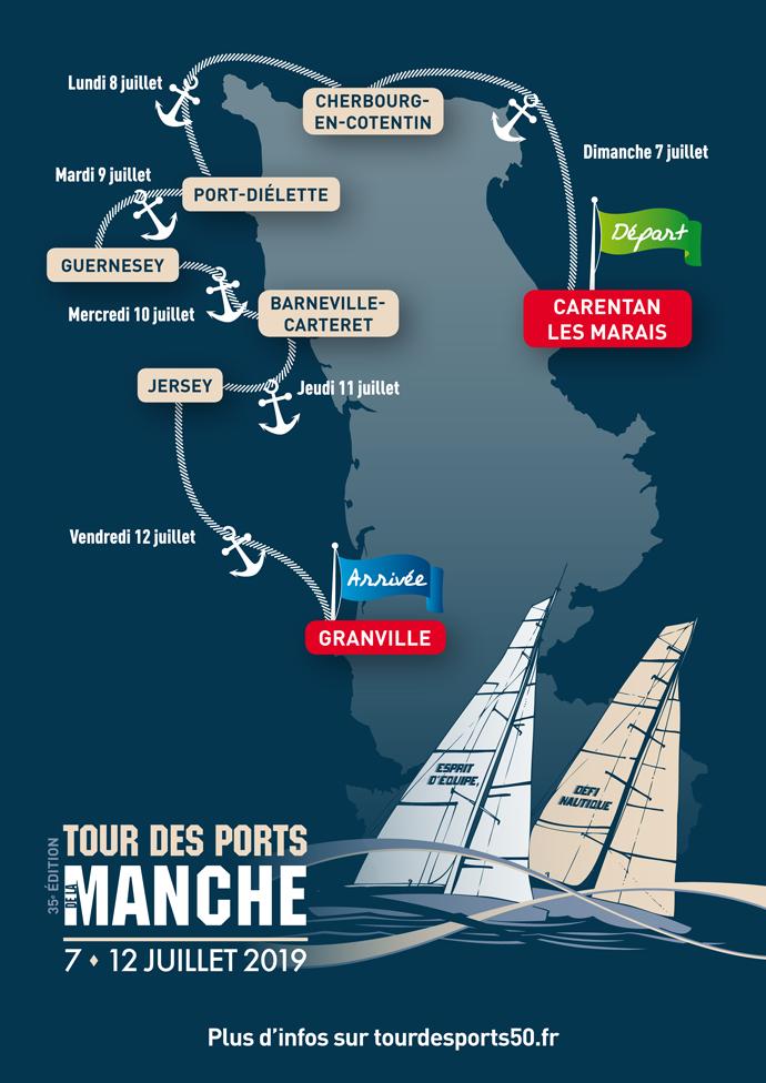 Parcours du Tour des Ports de la Manche 2019