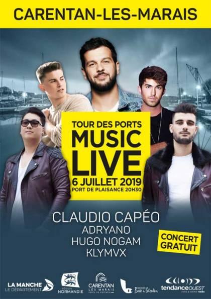 Tour des ports de la manche 2019 music live Carentan Les Marais